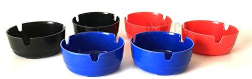 Plastic Flamefield Shades of Blue Mug Set 4 pk Premium Melamine