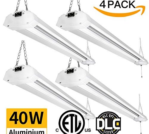 Led Garage Lighting Save The Planet And Save Your Money: Amico 4FT 4800 Lumens Linkable LED Shop Light, Led Garage