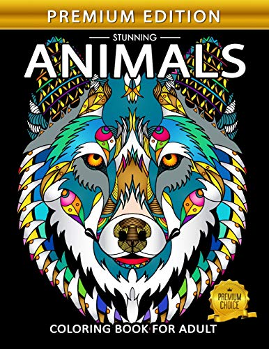 Adult Coloring Book : Stress Relieving Designs Animals